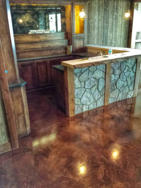 Concrete flooring specialists epoxy staining polishing for Buffing stained concrete floors