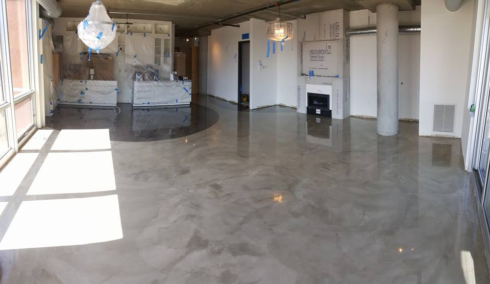 Stained concrete floors concrete overlays concrete for Microtopping costi