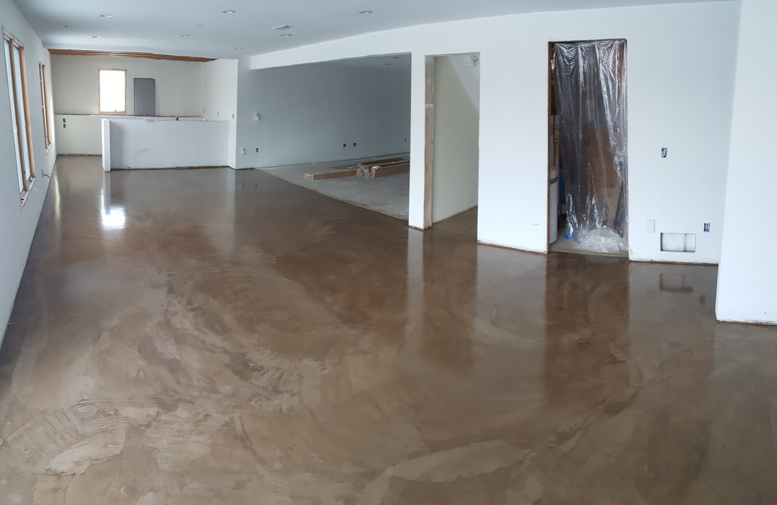 Stained Concrete Floor, Microtopping, Overlay, Epoxy Floor, Minnesota, Twin  Cities,